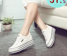 Fall 2016 new women casual shoes for women's shoes Lace-up Canvas Shoes Customized Flat With