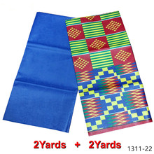 African fabric wax print ghana wax print fabric wax tissu guinea brocade fabric high quality 4yard Free shipping 1311-18 стоимость