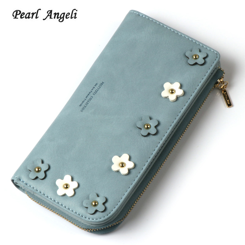 2018 new Fashion Women Wallet Credit Card Holder Wallet Female Purse Clutch Hasp&Zipper Pocket Adornment Applique Purse For Girl wholesale price fashion new bright pattern women wallets long zipper pocket hasp quality credit card holder wallet free shipping