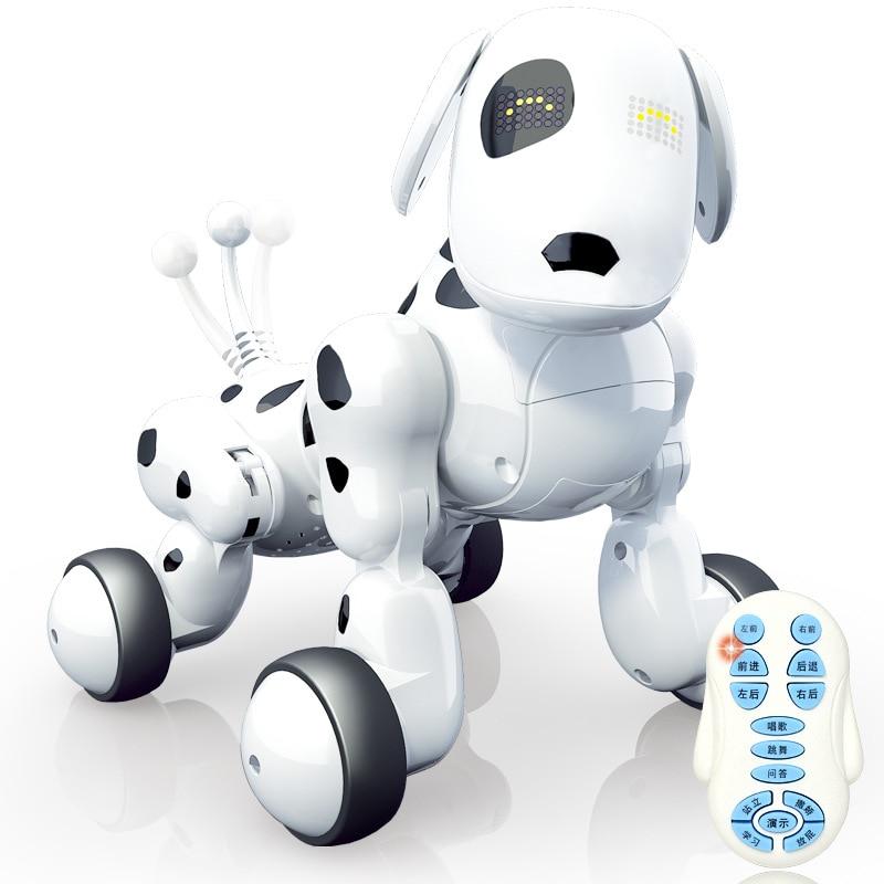 Télécommande Robot chien électronique Pet Intelligent chien Robot jouet 2.4G Intelligent sans fil RC Pet chiens parlant enfants cadeau pour anniversaire