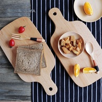 High Quality Handmade Cutting Board Pizza And Bread Food Chopping Block Bamboo Wooden Pallets Cooking Mat Tool
