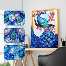 DIY peacock diamond painting animals 5D dimaond embroidery full drill lion mosaic round