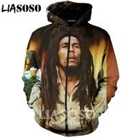 LIASOSO 2019 New Fashion Men Women 3D Print Singer Bob Marley Zipper Hoodie Unisex Casual Long Sleeve Coat Sweatshirt A188 02
