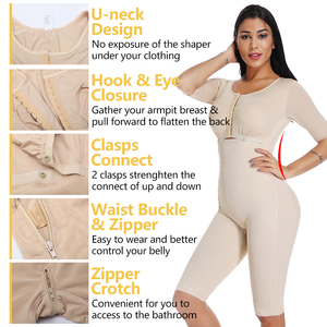 Image 3 - Plus Size Fat Burning Full Body Shaper Slimming Bodysuits Postpartum Recovery Waist Trainer Butt Lifter Weight Loss Shapewear