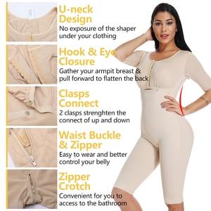 Image 3 - בתוספת גודל שומן שריפת מלא גוף Shaper הרזיה Bodysuits התאוששות לאחר לידה מותניים מאמן התחת מרים משקל אובדן Shapewear