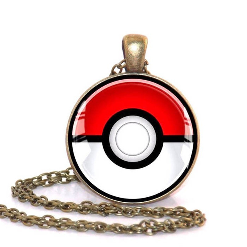 Fashion Crystal Pokemon Pendant Inspired Silver Chain Collar Necklace Pokemon Anime Necklace Collares Jewelry Party Trinket Gift in Chain Necklaces from Jewelry Accessories