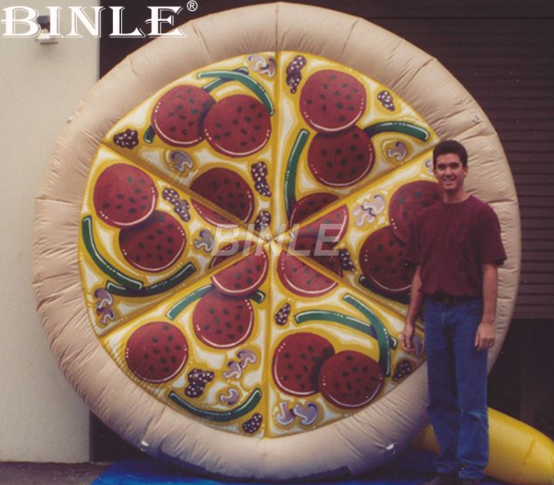 Italy delicious giant inflatable pizza model advertising balloon inflatable food replica for promotion ac028 factory price giant inflatable advertising new customized replica product