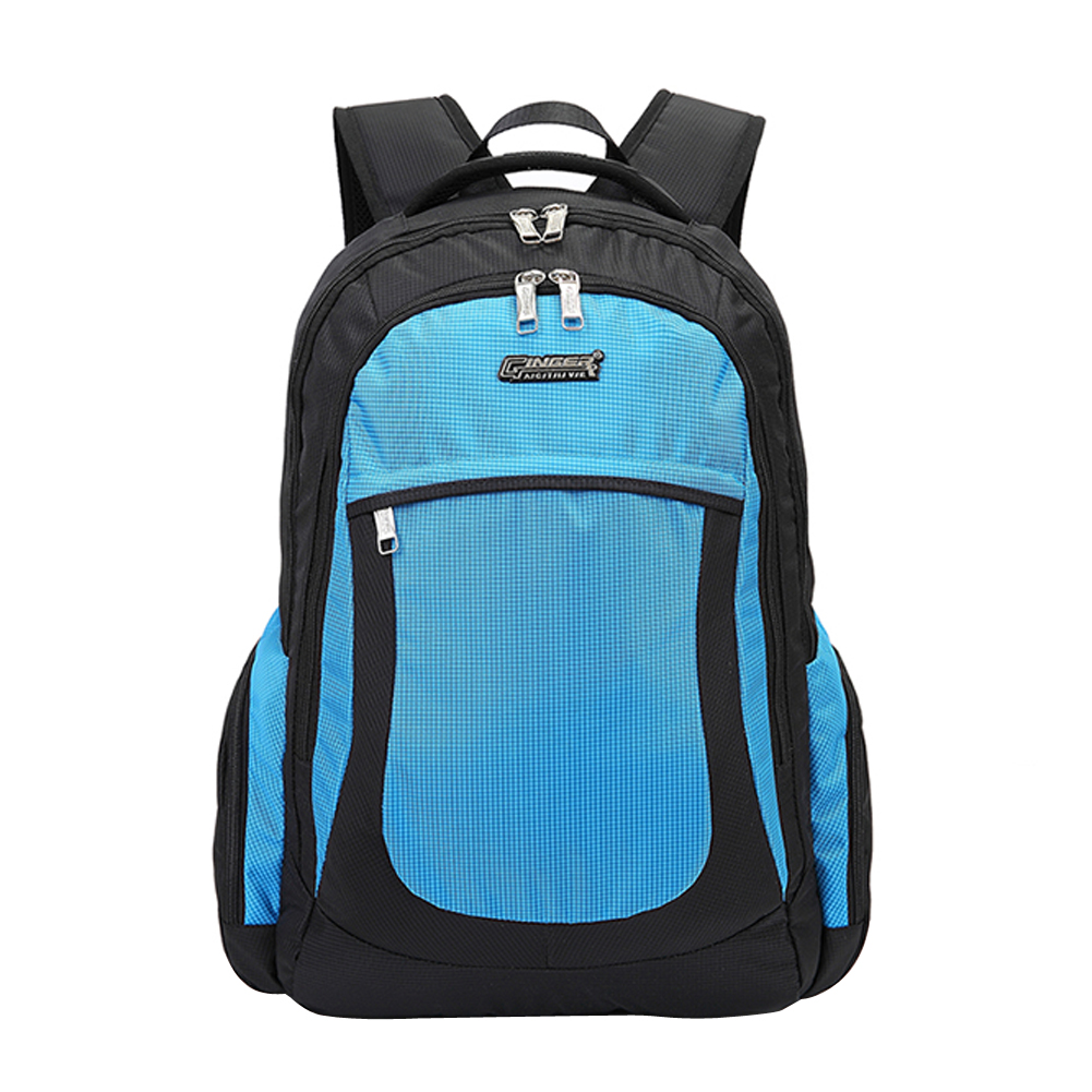 ФОТО GINGER ACTIVE Backpack Unisex Shoulder Bag with Zipper for Travel Lesuire Shockproof Air Cell Cushioning Laptop Backpack #LD789