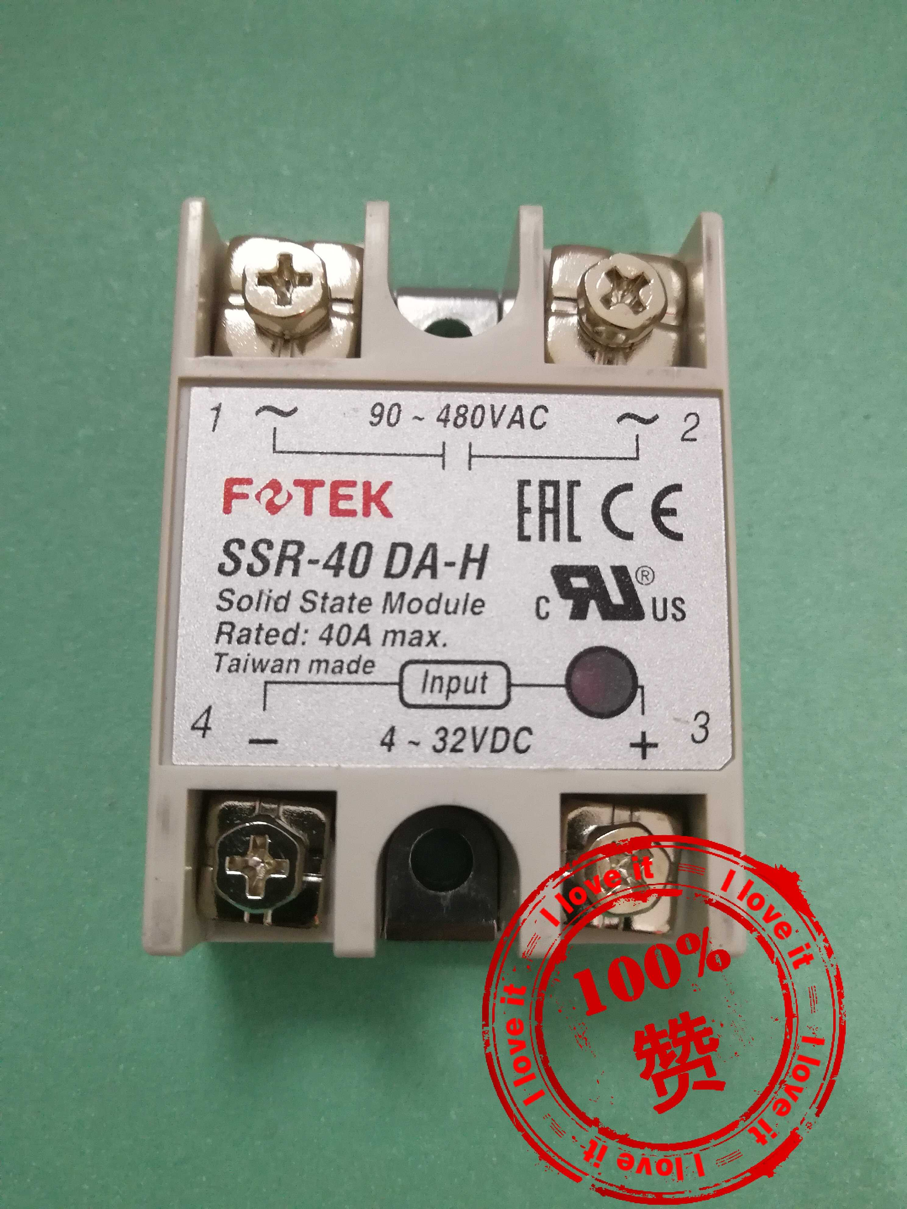 Single-phase Solid-state Relay SSR-40DA-H New Original Imported Ssr-40dah