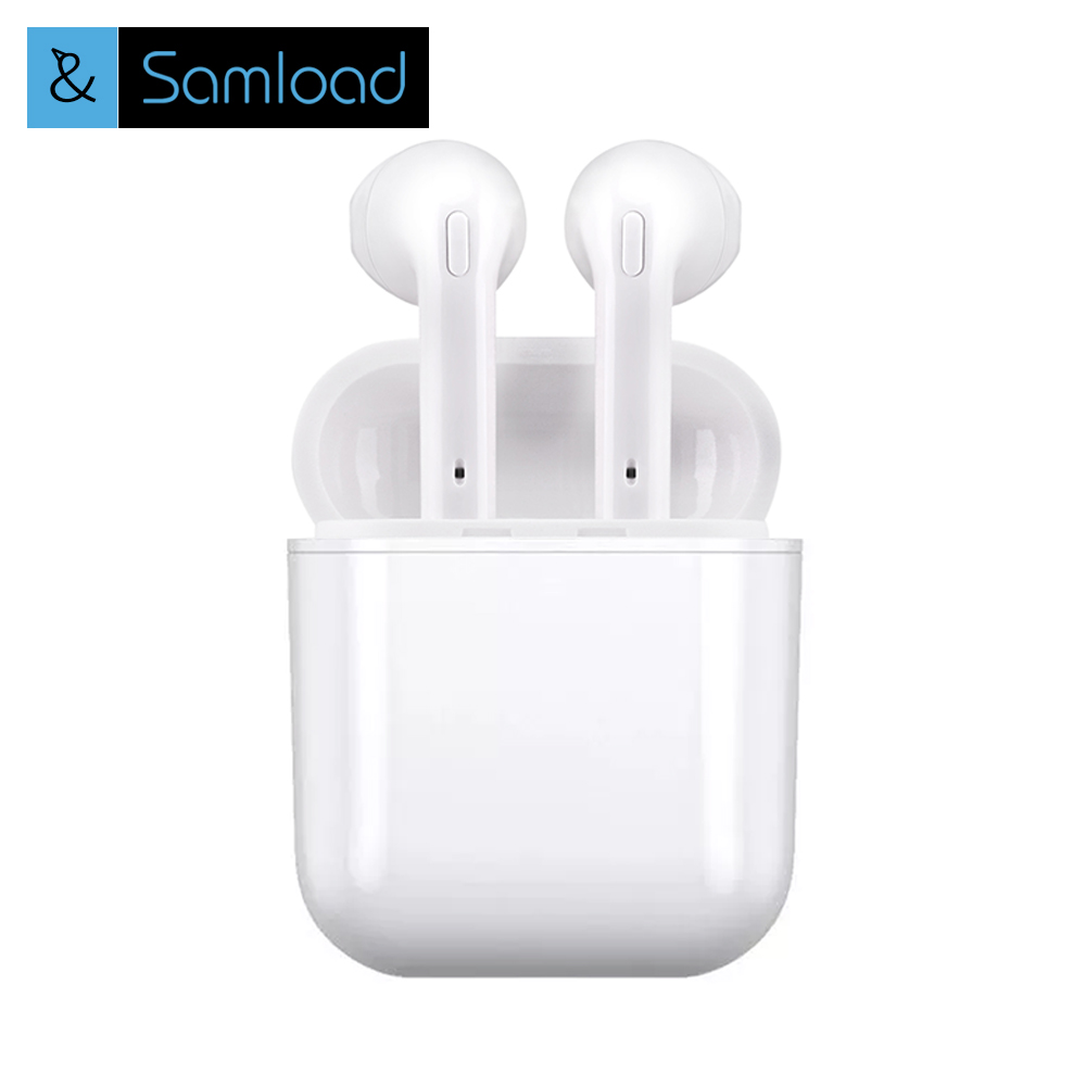 Samload Wireless Bluetooth Earbuds Stereo earphones In-Ear Earphone Air Microphone Pods for Iphone 6/7/8 plus Apple Android