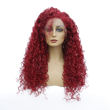 Ombre Synthetic Kinky Curly Wig With Bangs Lace Front Wig For Black Women Black Brown 613 Purple Bug Heat Resistant Cosplay Wig