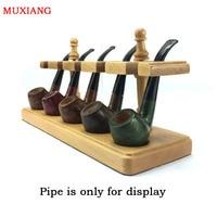 Muxiang goede hout true kleur solid hout multi zetels lamp romaanse verticale type 5 pijp rekken roken fittings kandelaar fa0028