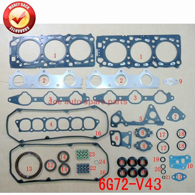 6G72 V43 24 v junta Do Motor Completo conjunto kit para Mitsubishi SHOGUN MONTERO 3.0L V6 94-MD973444 430228 p 50139900
