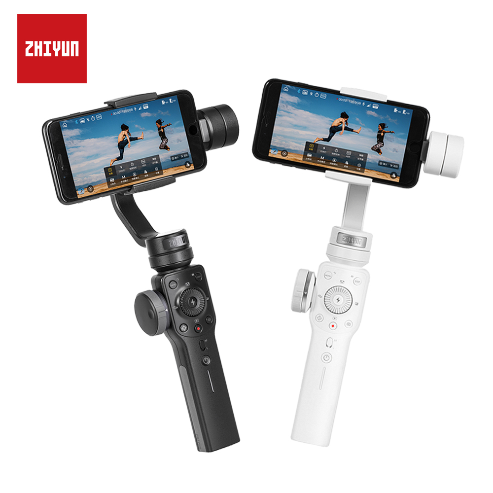 ZHIYUN Smooth 4 Q Gimbal 3-Axis w  Focus Pull amp  Zoom Handheld Stabilizer for Phone for iPhone XS XR X Smartphone Samsung S8