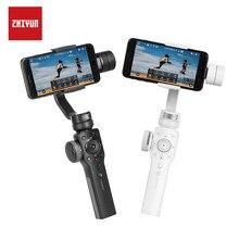 Estabilizador de mão para celulares zhiyun, modelo smooth 4 q gimbal 3 com botão de foco e zoom, para smartphone iphone xs xr x samsung s8