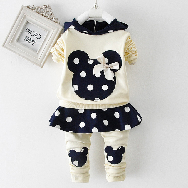 Girls Clothing Sets Minnie Mouse Mickey Baby Toddler Girl Clothing Girls Christmas Outfit Thanksgiving Tracksuit Girls Clothes