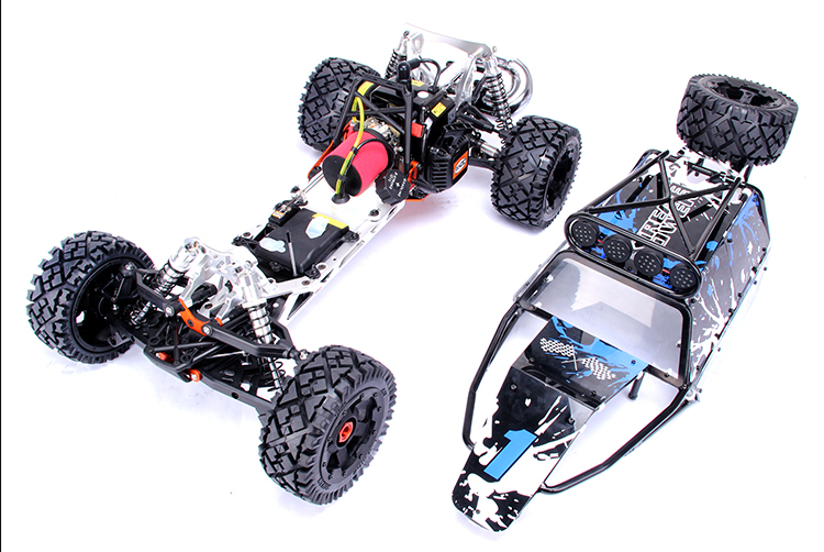 15 sales car 30.5cc RC Rovan Baja 5SC with 2.4G 3 channel controller with LCD screen