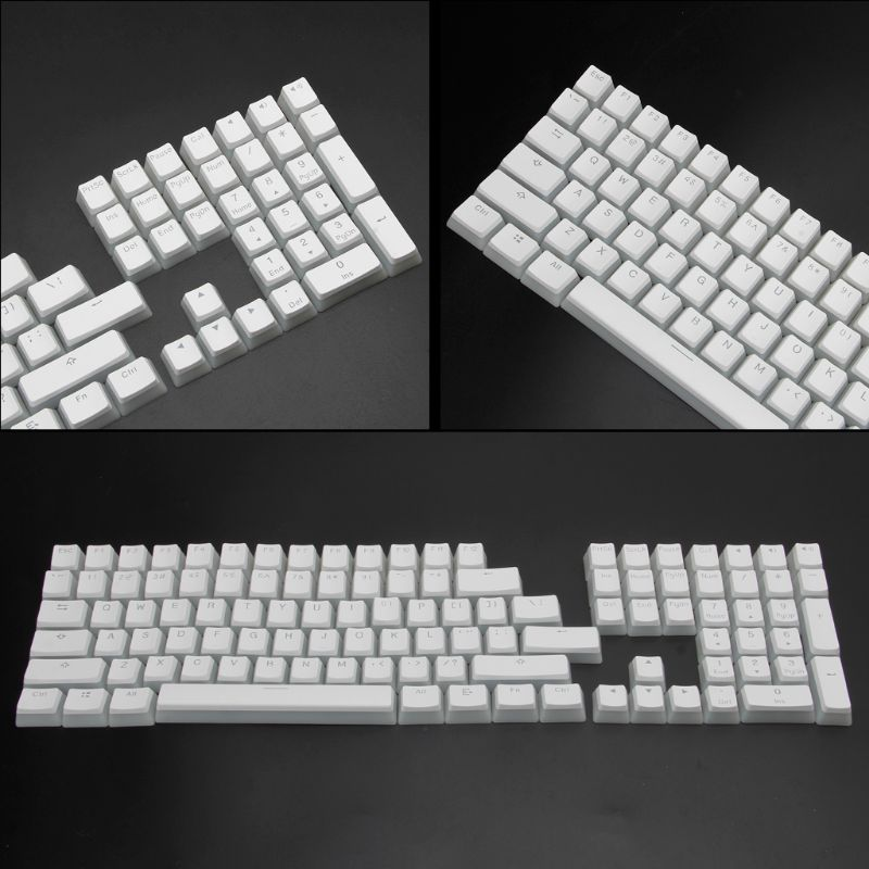 Image 5 - RGB 108 Keycaps ANSI Layout PBT White Pudding Double Skin Milk Shot Backlit Keycap For OEM Cherry MX gh60 poker 87 tkl 104 108Keyboards   - AliExpress