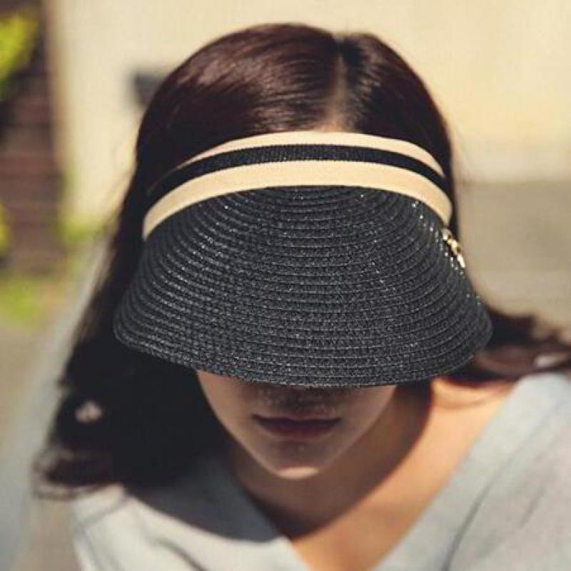 COKK Cute Bow Sun Hat Female Beach Hat Wide Brim Straw Visor Hat Cap Summer  Hats For Women Caps Chapeau Femme Sun Visor Girls-in Sun Hats from Apparel  ... 6cc1c5a0e3d9