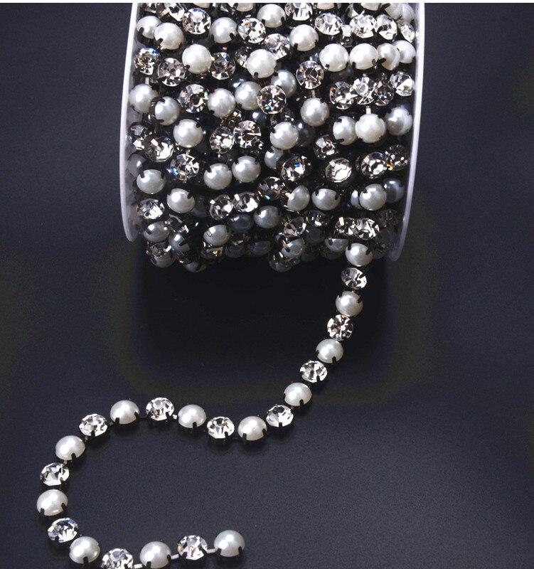 SINUAN strass kettingrol parel opnaaistenen kristal harsband - Kunsten, ambachten en naaien