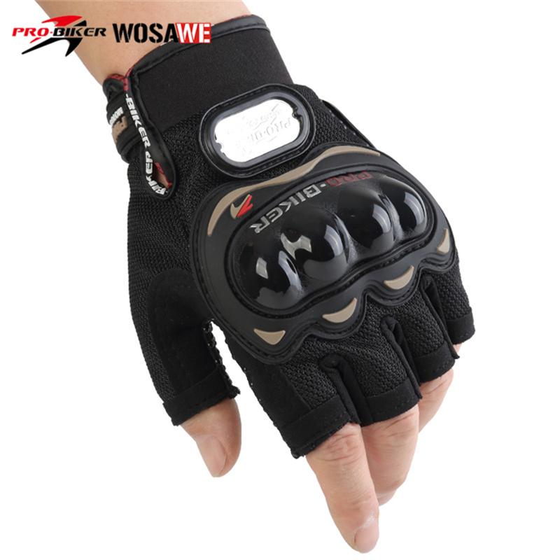 PRO-BIKER Half Finger Motorcycle Gloves Motocross Racing Protective Gloves Riding Motorbike Guantes Motocicleta Moto Gloves Men