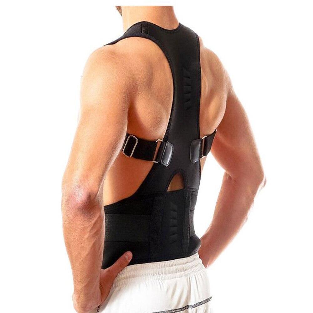 Volver postura ortesis ajustable terapia magnética postura ortesis soporte cintura con protección para hombres y mujeres