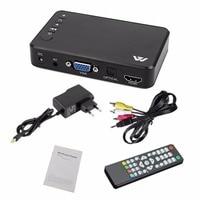 Mini Portable Full HD 1920x1080 HDMI VGA AV USB Hard Disk U Disk Player Multimedia Player H7 For Home Car Office