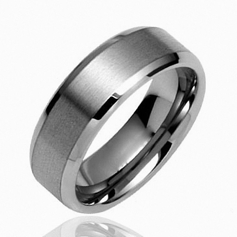 Amazing Aliexpress.com : Buy 6/8mm White Tungsten Carbide Rings Vintage For Women  And Men Beveled Edge Fancy Engagement Bands From Reliable Ring 7 Suppliers  On ...