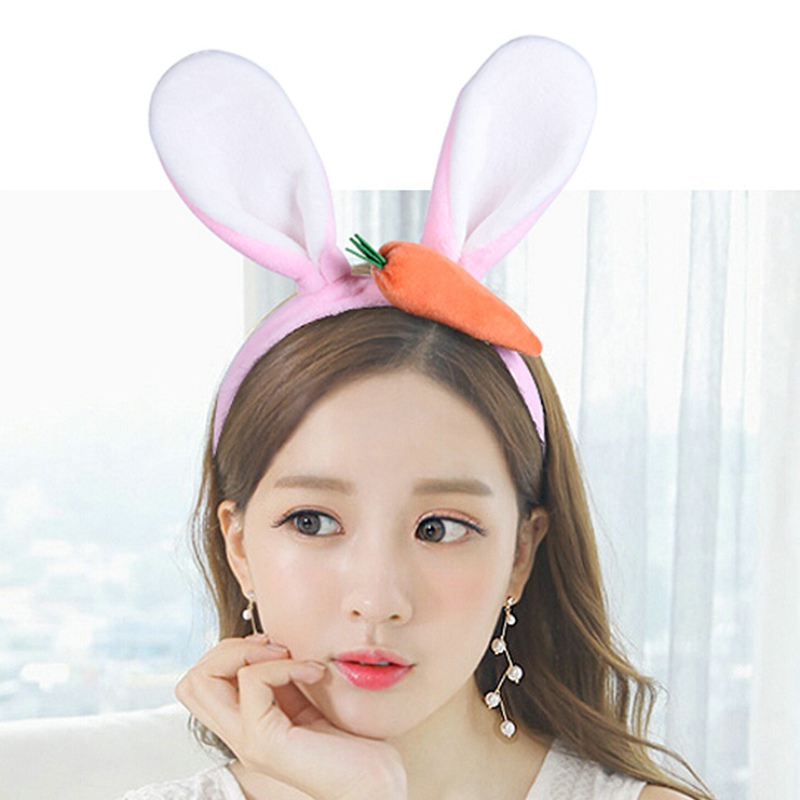 Lovely Carrot Rabbit Ears Cartoon Cloth Headband Cute Women Girls Children Festival Party Hair Accessories Headdress