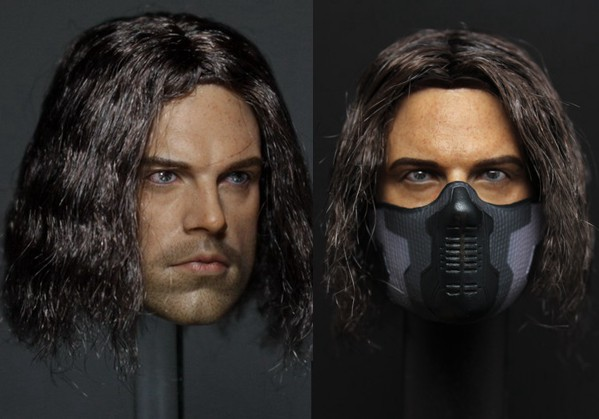 1/6 scale figure doll head shape for 12Action figure doll accessories Winter Soldier Bucky head.not include body and clothes 1 6 scale nude male body figure muscle man soldier model toys for 12 action figure doll accessories