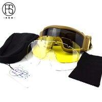 전술 야외 스포츠 안전 안경 사냥 장난감 총 페인트 고글 방풍 자전거 산악 자전거 안경