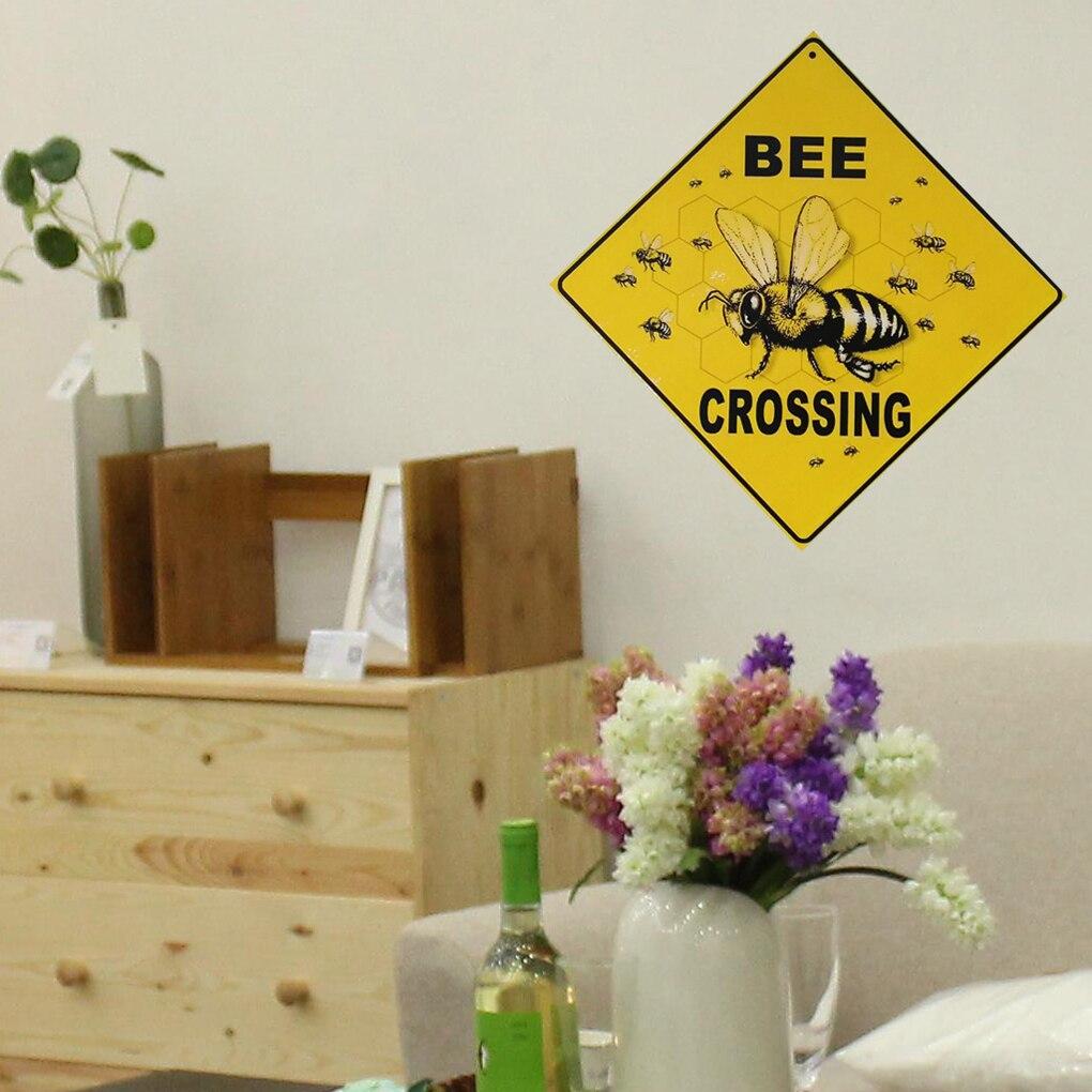 Весна пчелы встроенной письмо деревянная доска Настенный декор висит кулон вывеска для сада планка украшения