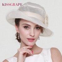 2017 Women S Summer Sun Hats 100 Mulberry Silk Hats For Ladies Elegant Party Caps Female
