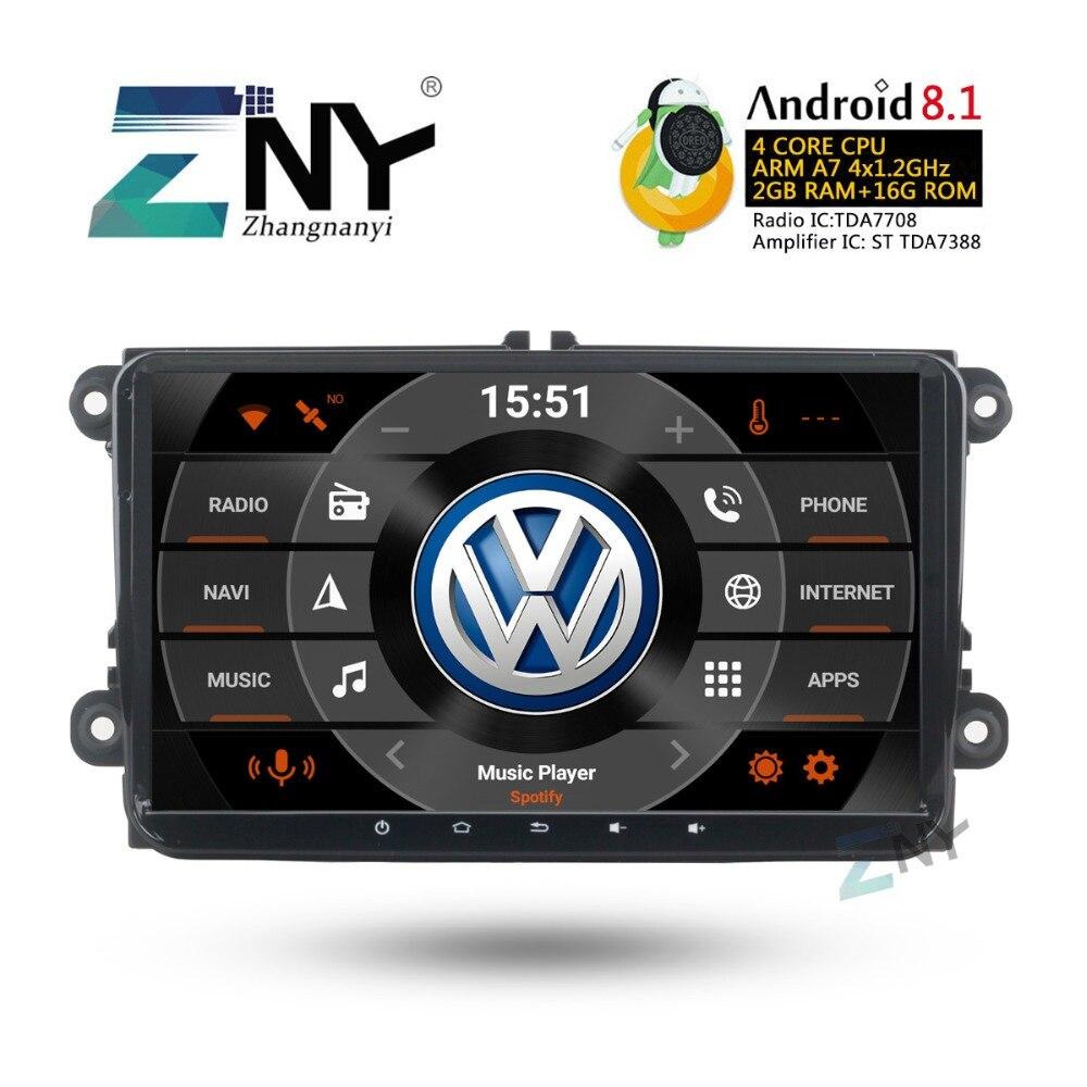 9 HD Android 8.1 Stéréo De Voiture Pour T5 Transporteur Polo Golf Passat Eos Lapin Scirocco Tiguan Jetta Altea Leon toledo Fabia Yeti