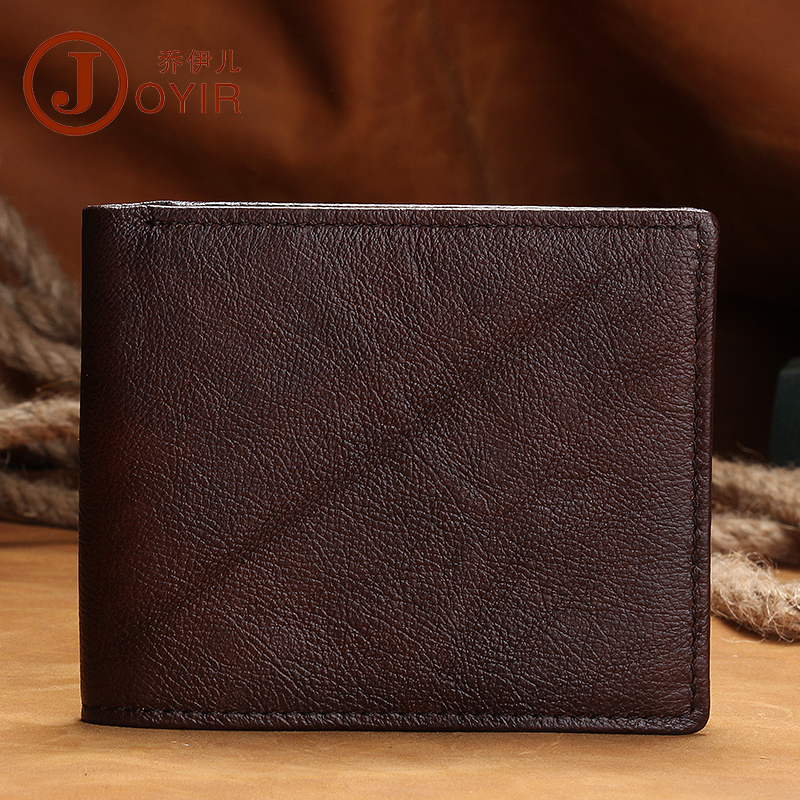 Фото 2018 New First Layer Cow Leather Men Wallets REAL Genuine Leather Purses Vintage Ultra thin Coffee Men