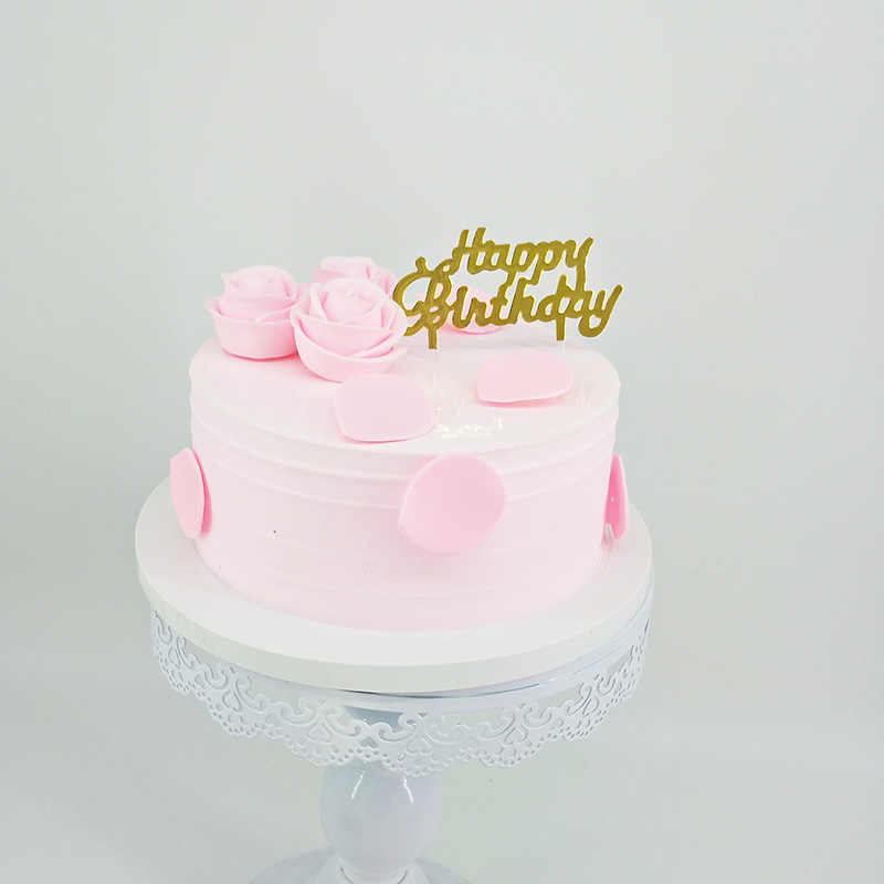 Superb Golden Plastic Transparent Bottom Creative Art Topper Cake Funny Birthday Cards Online Alyptdamsfinfo