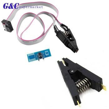 цена на SOIC8 SOP8 DIP8 IC Flash Chip Test Clip Socket Adapter BIOS/24/25/93 Programmer