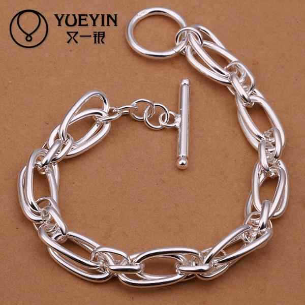 Hot Selling Wholesale Silver Plated Fashion Bracelets Bracelets Jewelry Chain Charm Bracelet