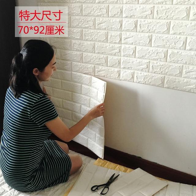 Brick Pattern Three Dimensional Wall Stickers Decorative Waterproof Tile Adhesive Pe Foam