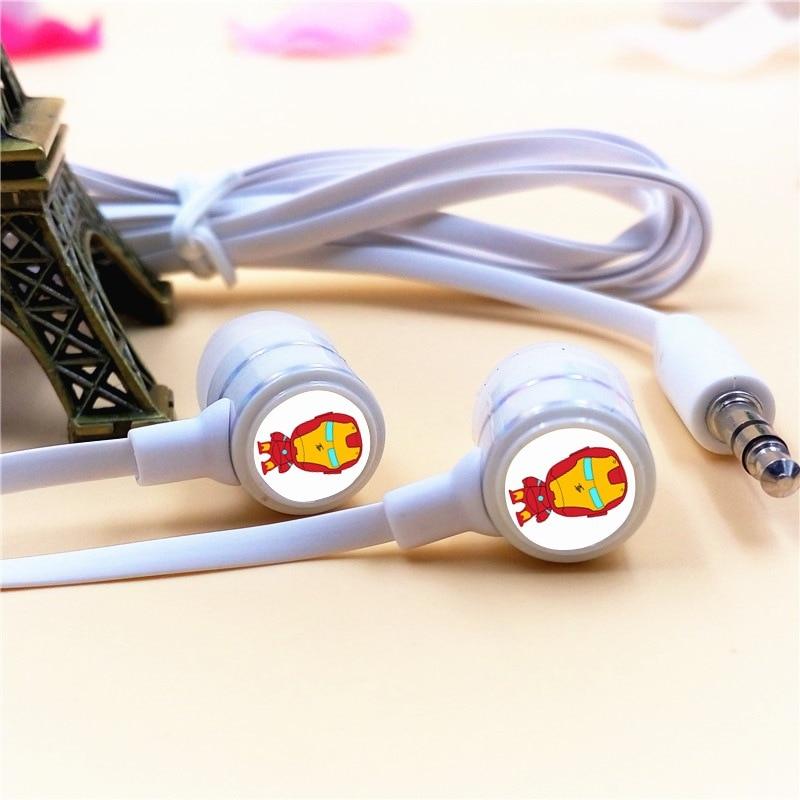 Anime Super Hero Iron Man Cartoon In-ohr Kopfhörer 3,5mm Stereo ohrhörer Telefon...
