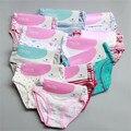 9 шт./лот дети младенческой девушка underwear Германия марка 100% органического хлопка полосы мягкие детские трусики одежда для новорожденных девушки трусики