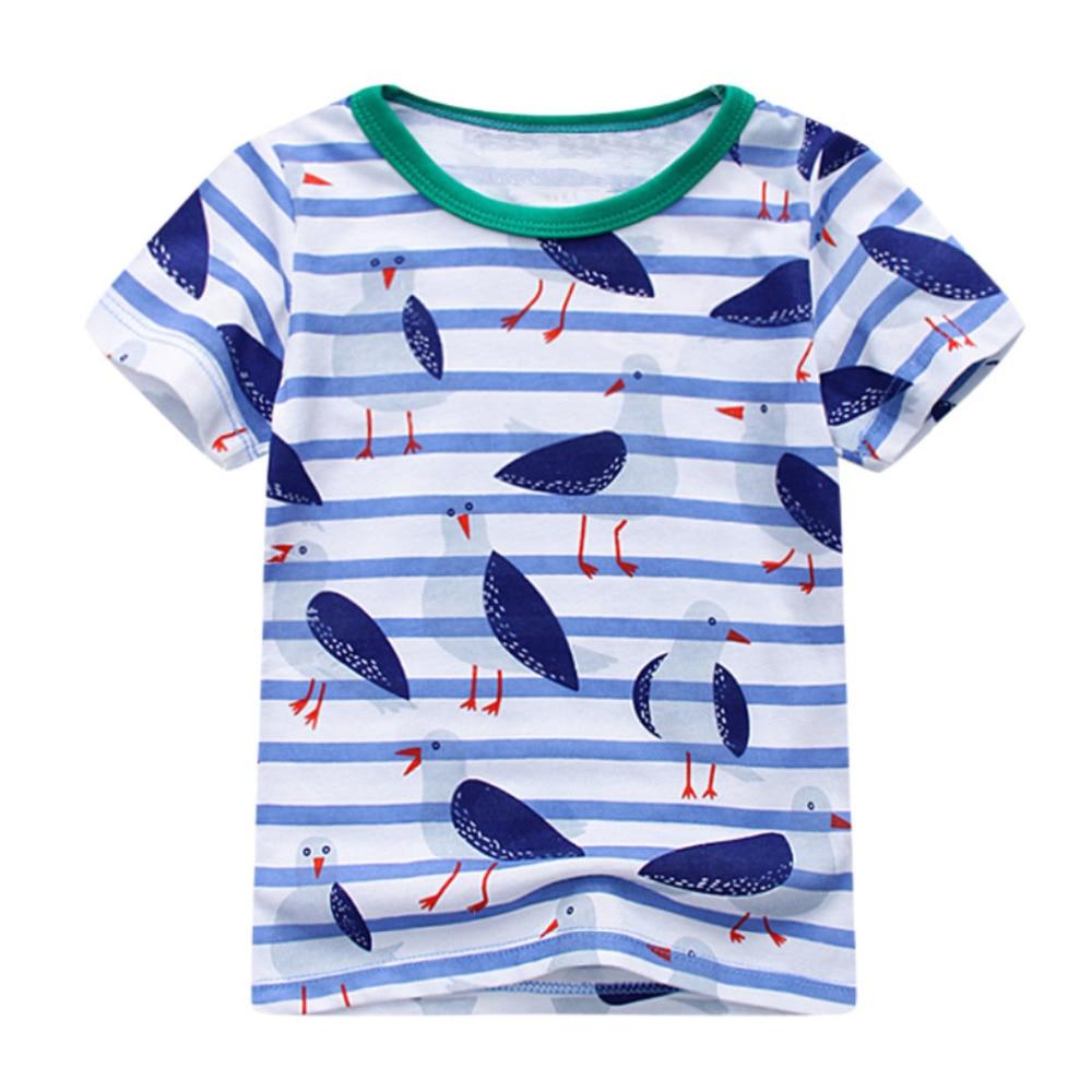 Littlemandy Boys T Shirt Baby Topy Letnie ubrania 2018 Dinosaur - Ubrania dziecięce - Zdjęcie 6