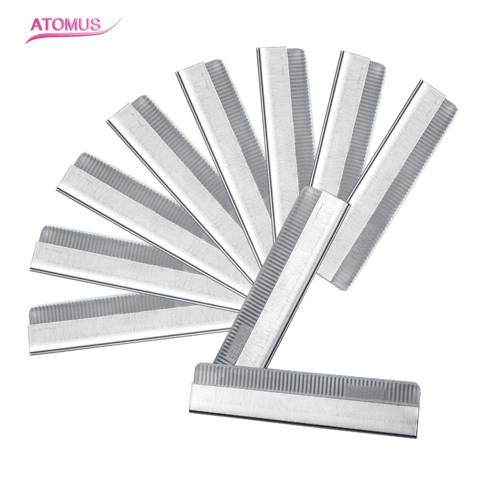 Click here to Buy Now!! High Quality 10pcs pack Eyebrow Trimmer Blades  Eyebrow Cutter Equipment Super Feather Cut Special Platinum Coated Edge  Razor Bla 54767a7d2b541