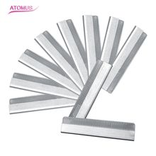High Quality 10pcs/pack Eyebrow Trimmer Blades Eyebrow Cutter Equipment Super Feather Cut Special Platinum Coated Edge Razor Bla