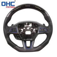 Real Carbon Fiber LED Steering Wheel compatible for Ford Focus