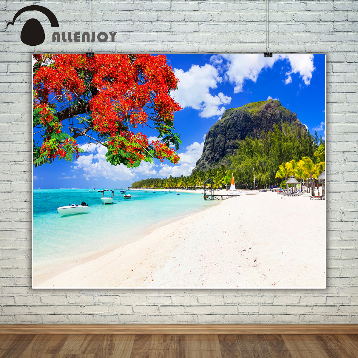 Allenjoy photography backdrop beautiful beaches sunny island tropical vacations background photo studio camera fotografica
