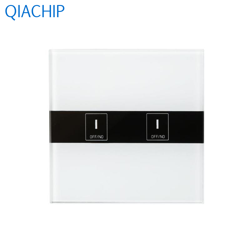 New EU Plug WiFi Smart Light Switch 2-CH Wall Touch Switch APP Remote Control Switch LED Indicator Crystal Tempered Glass Panel 2017 new smart home black crystal glass panel 1 circuit us plug light touch and remote control screen switch with led indicator