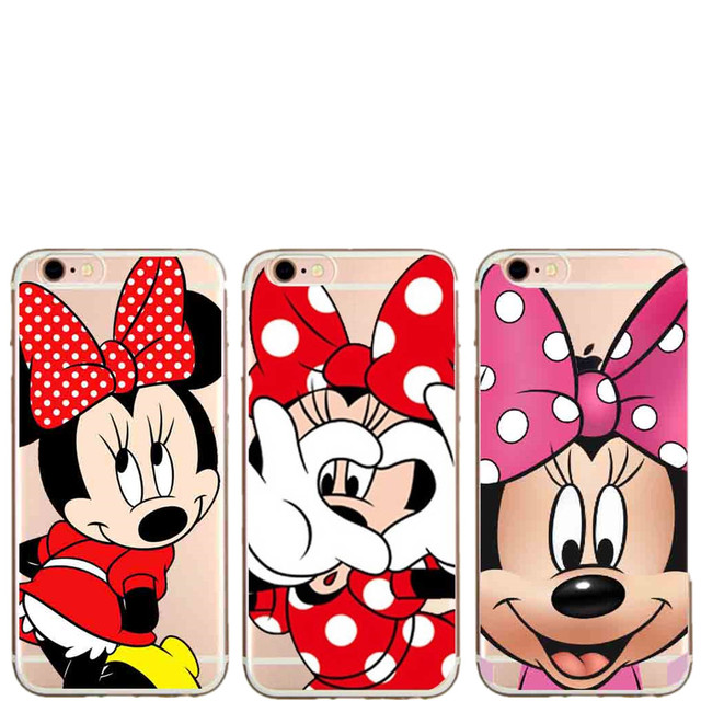new concept c5570 801e1 US $1.19 40% OFF|Cute Cartoon Mickey Minnie Mouse Women Phone Case For  iPhone SE 5 5S 6 6S Plus 7Plus 8Plus Gril Back Hard Cover For iPhone X  10-in ...