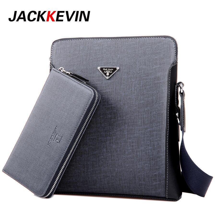 JACKKEVIN Men's Bag 2017 Fashion Men's Shoulder Bag, High-Quality Casual Leisure Package Material PVC Business Men's Bag 2017 high quaitily casual fashion 024