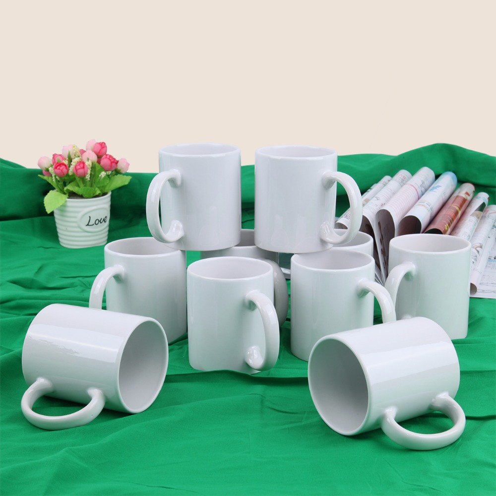 (Ship From EU) 36X White ORCA Double Coated 11oz Small Handle Mug Sublimation Heat Press Print